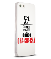 Чехол для iPhone Keep calm & dance CHA-CHA-CHA
