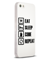 Чехол для iPhone Eat, sleep, code, repeat