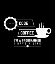 Мужская майка Programmer : coffee and code.