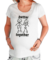 Футболка для беременных Better together