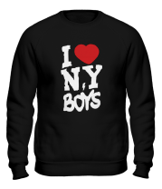 Толстовка без капюшона I love New York Boys