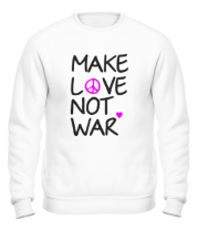 Толстовка без капюшона Make love not war
